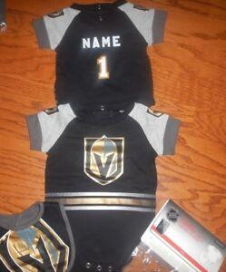 fb31356d4 Las Vegas Golden Knights Infant NHL Jersey Bib   Bootie Set add any ...
