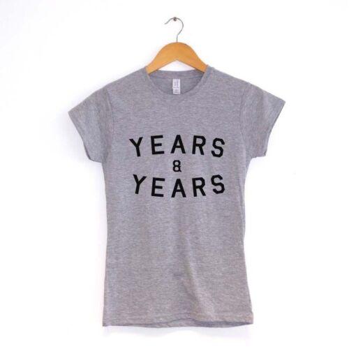 YEARS /& YEARS WOMENS T SHIRTMANY COLOURSand  band tour 2015 tee