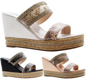 Ladies-Womens-Strap-Diamante-Espadrilles-Platform-High-Wedge-Sandals-Shoes-Size