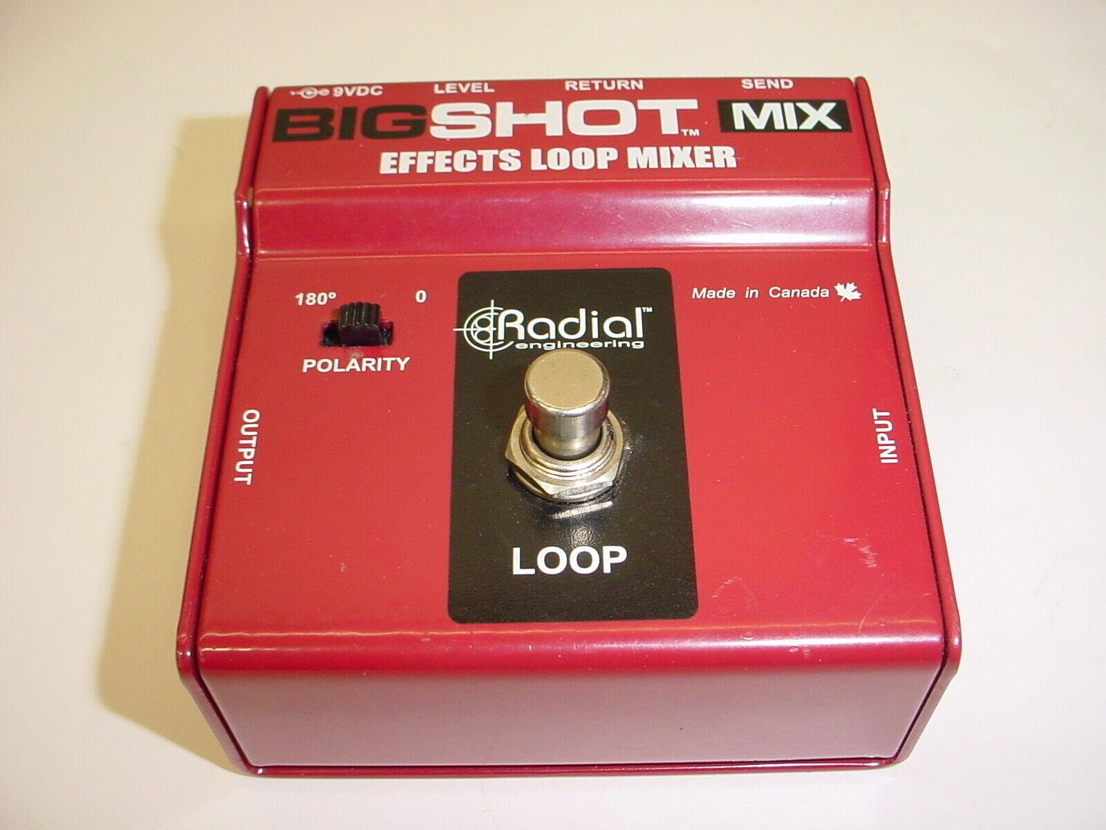 Radial BigShot MIX Effects Loop Mixer Guitar Effect Pedal