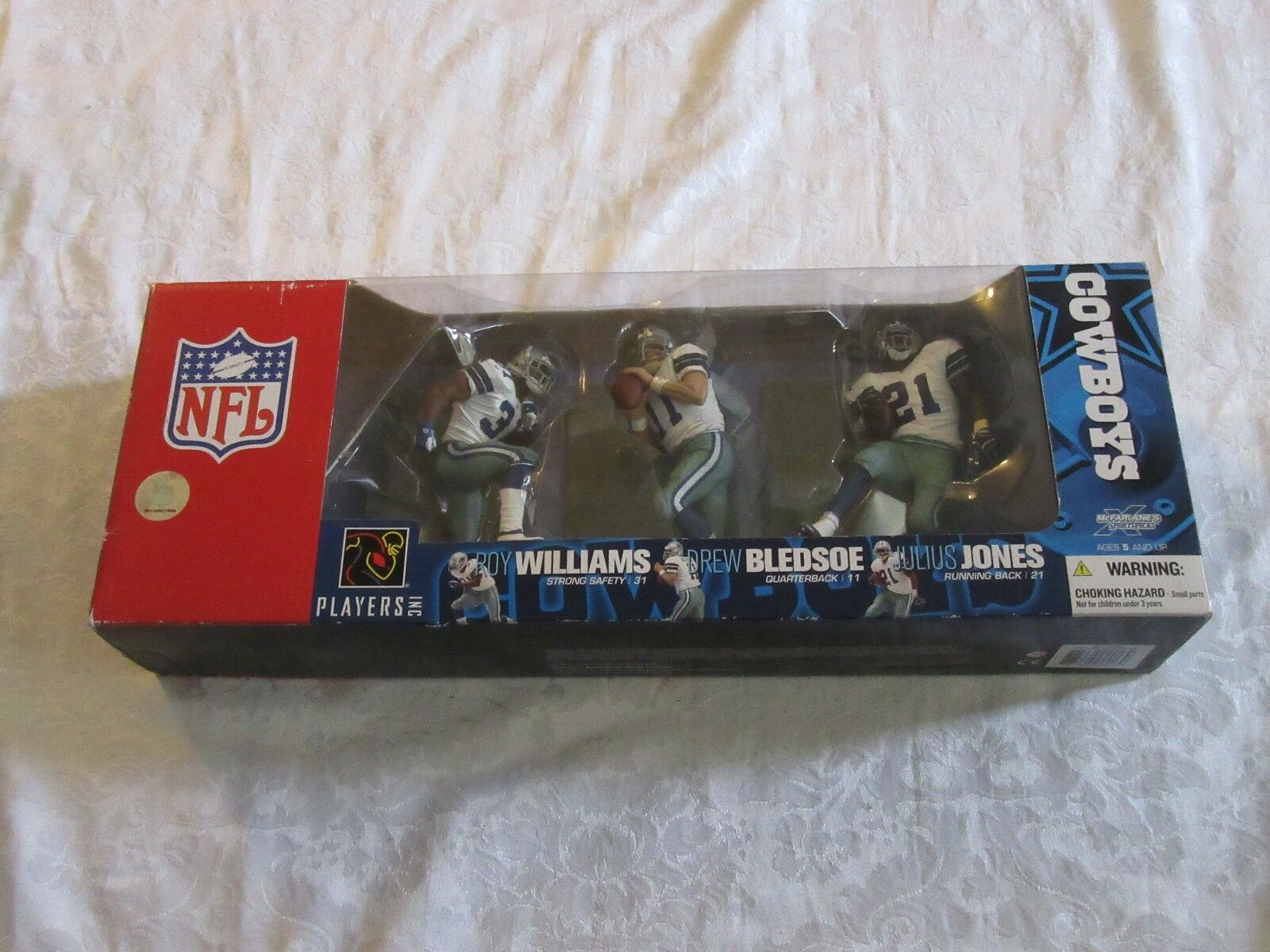 McFarlane Sportspicks Nfl Cowboys 3 Pack Williams Bledsoe Jones Figura De Acción
