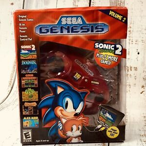 NEW Sega Genesis 6 Games In 1 Legends VOL 2 Authentic Genesis Controller Plug TV