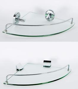 Mensole Per Bagno Vetro.Dettagli Su Mensola Angolare In Vetro Portaoggetti Da Doccia Bagno Muro Parete