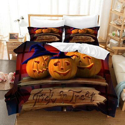 3D Halloween Pumpkin Bedding Set Duvet Cover Comforter Cover Pillow Case