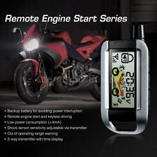 New Steelmate 2 Way Motorcycle Alarm System Transmitter Remote Engine Start ECU