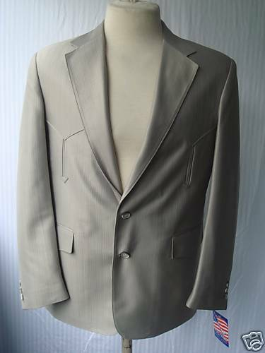 52R New Mens Western Wear Sport Coat  Celery Warp Knit