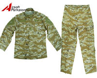 Military Special Force Tactical Uniform Shirt Pants Desert Tiger Stripe Camo Xl