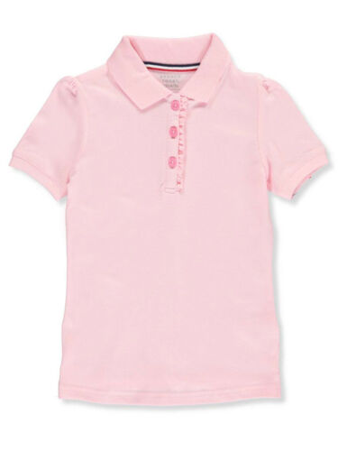 Sizes 7-16 French Toast Big Girls/' S//S Ruffle Pique Polo