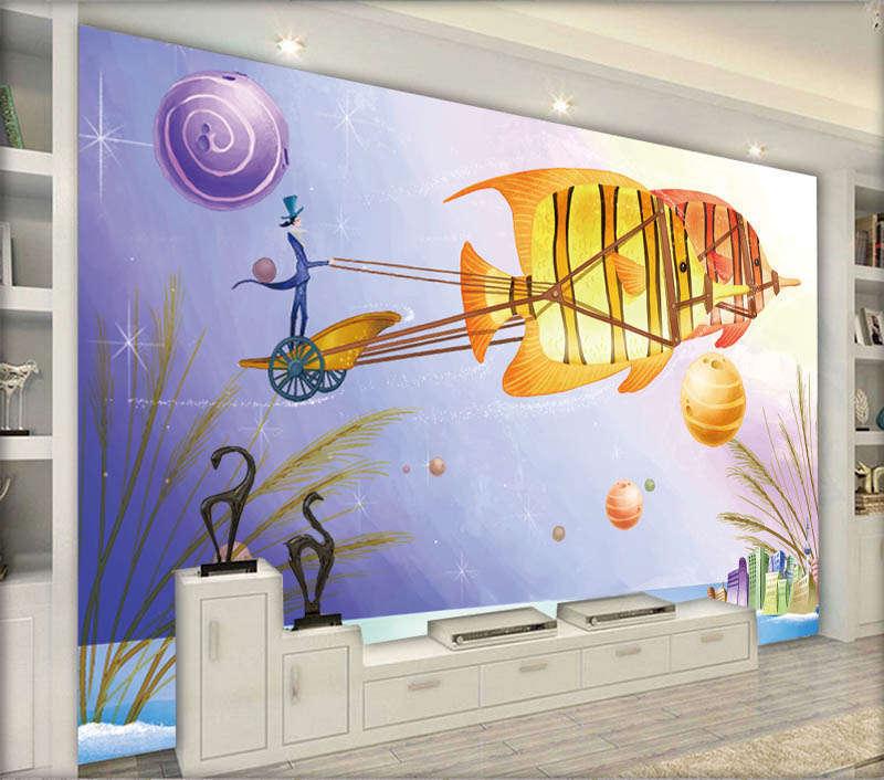 Fairy Free Vast Sea 3D Full Wall Mural Photo Wallpaper Printing Home Kids Decor