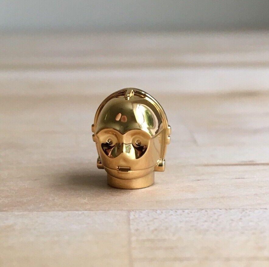 LEGO Chrome or C-3PO Head Star Wars 4521221 Véritable pièce pièce pièce de collection super rare 5ee7ab