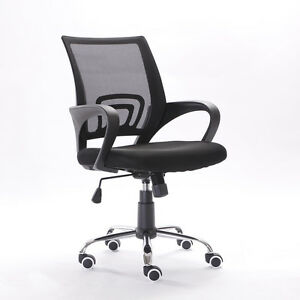 Ergonomic-MidBack-Mesh-Office-Chair-Executive-Swivel-Black-Computer-Home-Desk