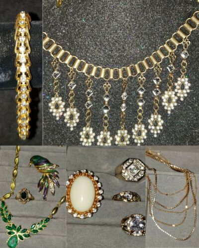 Vintage  Costume Jewelry Lot With Arnold Scaasi C… - image 1