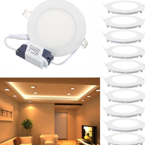 10-100er 6W LED Rund Panel Einbaustrahler Einbau Deckenleuchte Spot