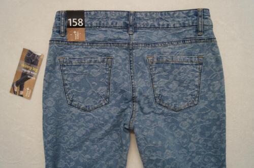 There /& here C/&A coole Jeans Skinny Gr.158,164 Regular Stretch geblümt NEU