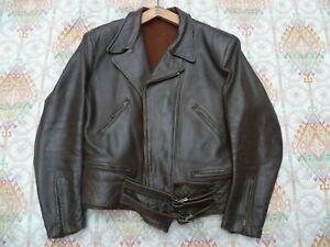 Blouson de moto français 1950 Vintage leather Jacket