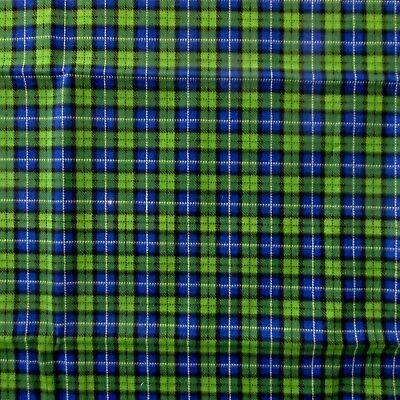 b81f42a980ec2 John Deere Black Watch Blue, Green & Yellow Tartan Plaid Fabric 26