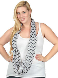 New-Womens-Fashion-Light-Weight-Wave-Pattern-Infinity-Scarf-Circle-Loop-Scarves