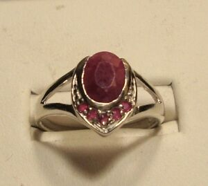 MANAGER SPECIAL New Orange Sapphire Ring .925 Sterling Silver Size 6.5