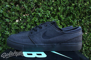 acd2133e030e6 NIKE SB ZOOM STEFAN JANOSKI LEATHER SZ 11.5 BLACK ANTHRACITE 616490 ...