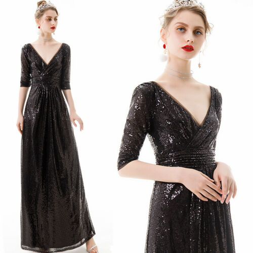 Noble Evening Formal Party Ball Gown Prom Bridesmaid Sequins Host Dress YSGZ166