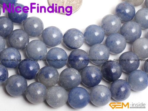 """8mm 10mm Natural Aventurine Round Stone Beads For Jewelry Making Gemstone 15/""""DIY"""