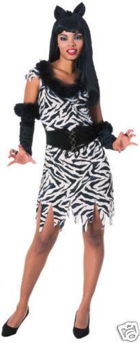 Standard Zebra Woman Stretch Velvet Adult Costume