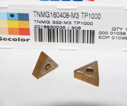 TNMG 332 M3 TP1000 SECO *** 10 INSERTS *** FACTORY PACK ***