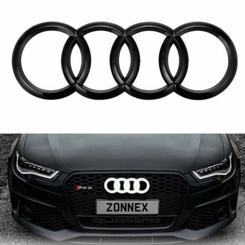 DEL 4D Emblem Black Edition Light Front Grill Badge Logo Anneaux Pour Audi Q3 Q5 A6