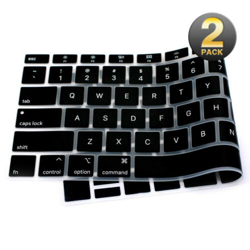 2X TPU Keyboard Cover Protector Fr MacBook Pro Air 13//15 Inch Touch ID 2018 2019