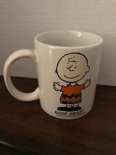 Peanuts Enamel Mug Snoopy Charlie Brown Coffee Tea Cup Container Stein Red 3/""