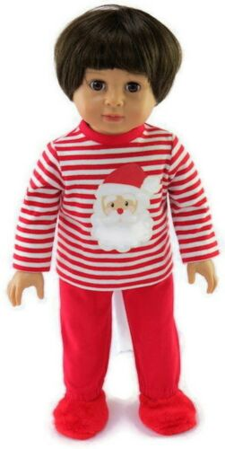 Santa Christmas 2 piece Pajamas fits 18 inch American Girl Doll Clothes Boy