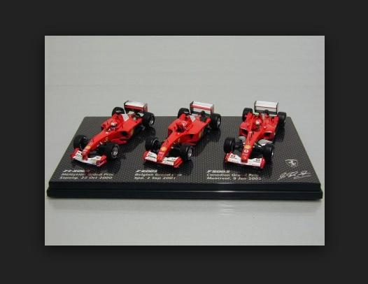 Ferrari F1-2000 + F2001 +F2002 M.Schumacher World Champion B7022 1 43 HotWheels
