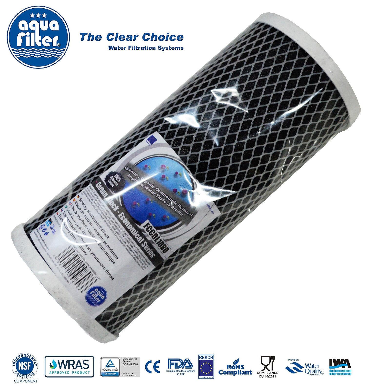 """155170-43 Bituminous Carbon Briquette Water Filter 5 x AQUAFILTER 10/"""" CBC-BB"""