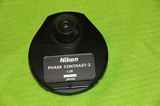 Nikon Microscope 125 Phase Contrast 2 Darkfield Condenser Ph1 Ph2 Ph3 Ph4 Df Bf