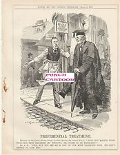 1905 Punch Cartoon Balfour Hugh Cecil Tariff Reform Preferential Treatment