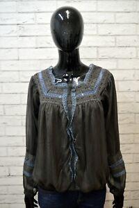 Maglia-GUESS-Donna-Taglia-M-Maglietta-Shirt-Cotone-Manica-Lunga-Polo-Woman