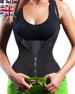 1a52060236 Image is loading Women-Underbust-Zipper-Corset-Waist-Trainer-Sauna-Sweat-