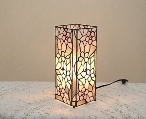 12 5 Quot Stained Glass Tiffany Style Square Desktop Flower