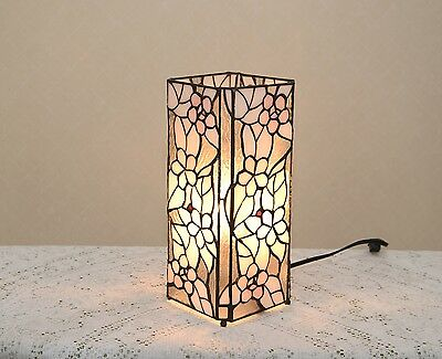 Stained Glass Handcrafted Butterfly Deco Girl Night Light Table Desk Lamp.
