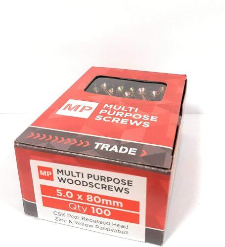 200 x 3 x 16 mm Samac multi usage vis Jaune Pozi Fraisée Vis à bois