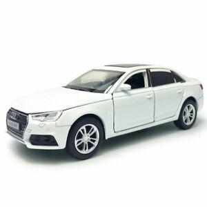 AUDI-A4-1-32-Coches-Modelo-de-Metal-Regalo-Ninos-Coleccion-de-vehiculos-de-juguete-Diecast-Blanco