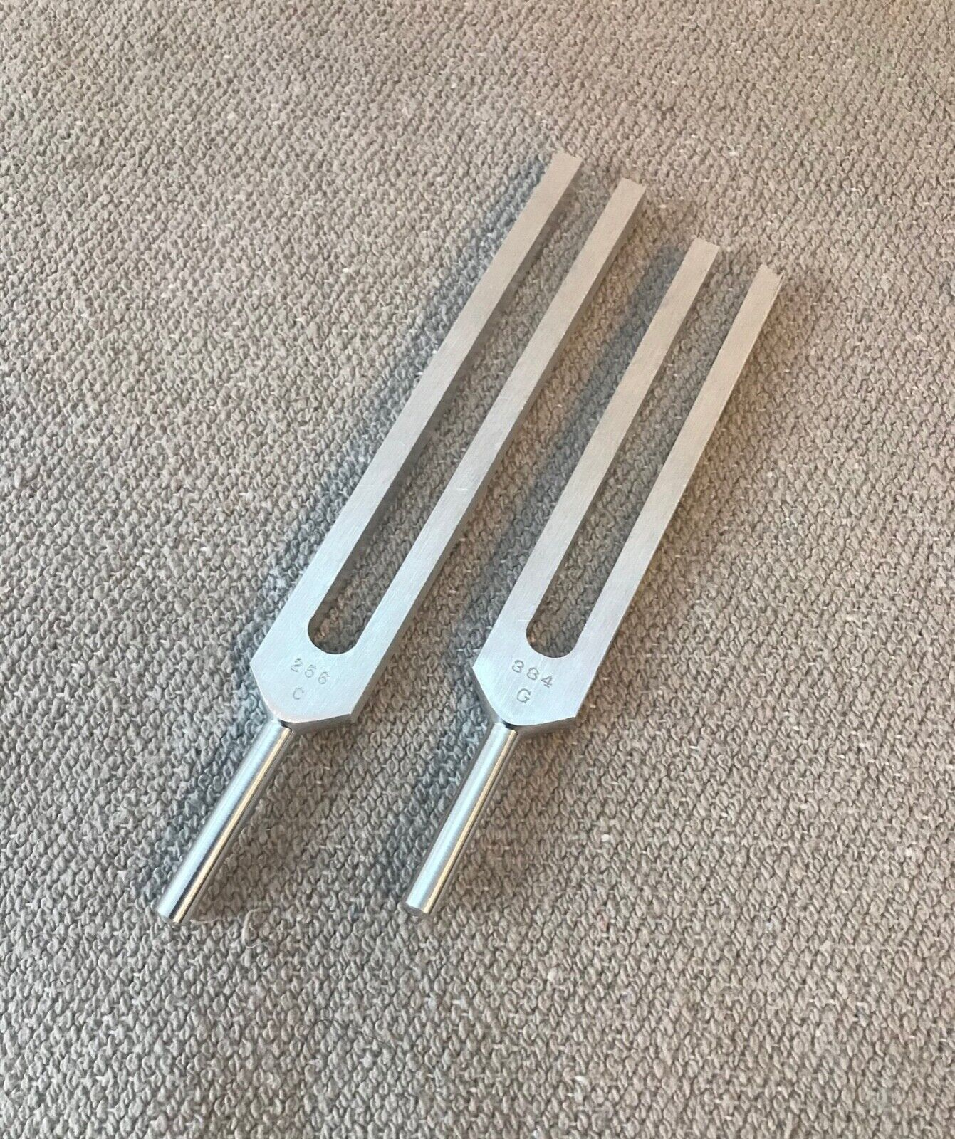 Biosonic C&G Tuning Forks Perfect Fifth Sound Healing Body Tuners