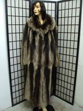 ! MINT NATURAL CANADIAN RACCOON RACOON FUR COAT JACKET WOMENWOMAN SIZE 16-18 3XL