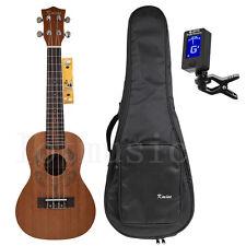 Kmise Concert Ukulele 23 inch Hawaii Ukelele Guitar W/Bag and Tuner Mahogany