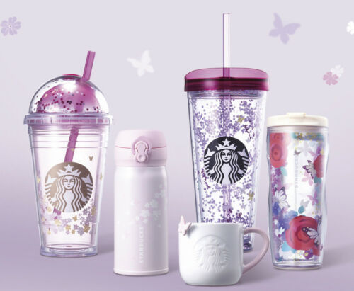 2018 Starbucks Korea Capture the moment of Spring flower silicone glass 473ml