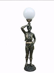 Lampe stehlampe stehleuchte junge figur figurenlampe mohr skulptur deko 05 fa110 ebay - Lampe jugendzimmer junge ...