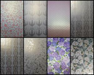 A4-Patterned-Paper-Embossed-Hearts-Birds-Butterfly-Chandelier-White-Purple-Peony