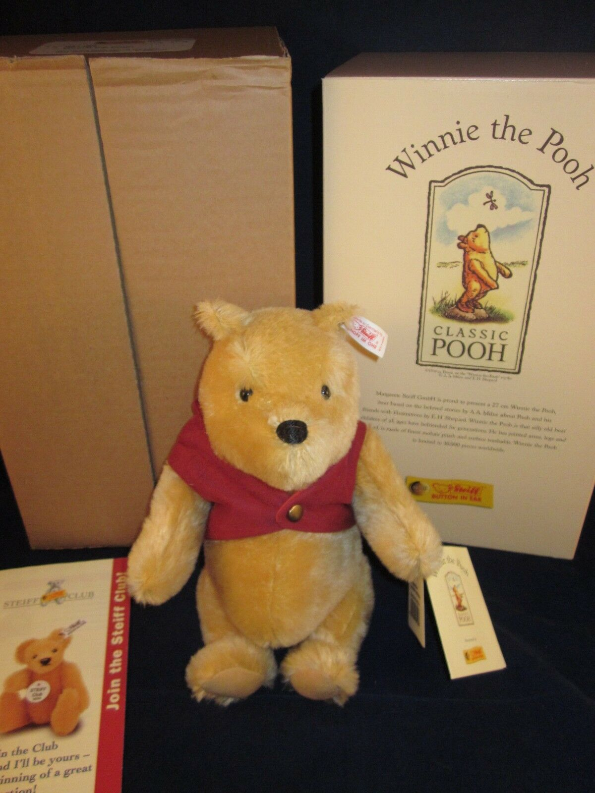 STEIFF Winnie The Pooh Bear 1999  651489  NEW in BOX