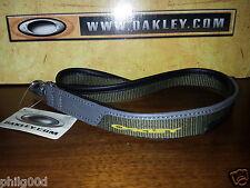 Oakley Lanyard PANELED LEATHER Keychain Rare SI ELITE TACTICAL MILITARY OLIVE