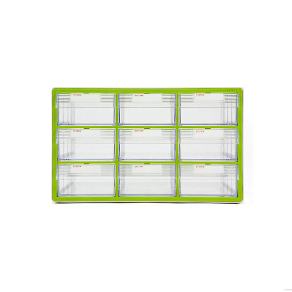 9 Drawers System Plastic Box Multipurpose verde Tool Box Storage Cabinet 57009